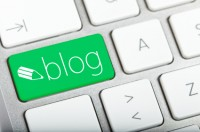 Green Blog key on computer keyboard